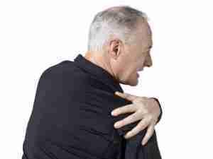 Older man with Shoulder Pain